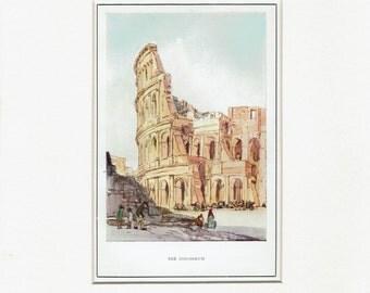 Rome:The Colosseum,Rome1926 iconic classic landmark image, original print