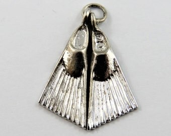 Pair of Flippers Sterling Silver Charm or Pendant.