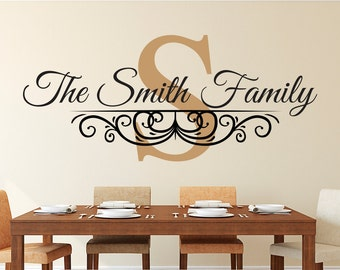 Family Name Wall Decal Personalized Family Monogram Living - Family monogram wall decals