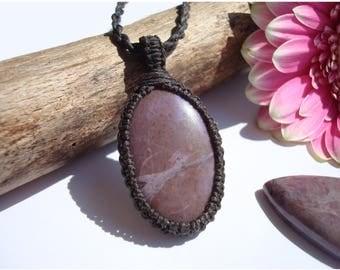 Lavender Jade/Compassion/Lilac/Purple Jade/Stone Pendant/Jade Jewelry/Jade Necklace/Innocence/Purple Stone/Macrame Jade/Childlike Magic/Gaia