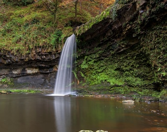 photography, color, nature, trees, rocks, stream, river, landscape, Autumn, waterfall,