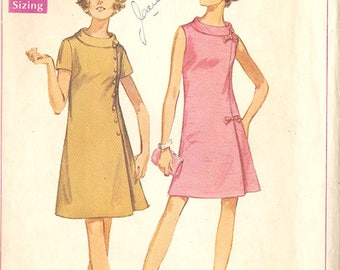 """Simplicity 8159 Misses' 60's Dress - Jiffy Pattern - Sheath Dress with Rolled Collar - Size 20 1/2 Bust 43"""""""