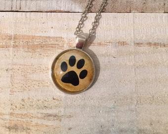 Silver Necklace of Dog Paw, Jewlery