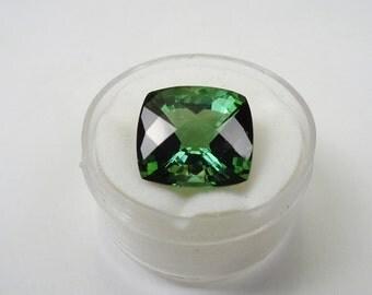 9.25ct. Green Tourmaline Cushion Cut Natural Gemstone.
