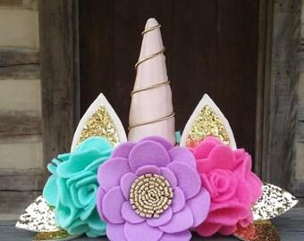 Whimsical Unicorn Crown, Unicorn Crown, Birthday Crown, Photo Prop