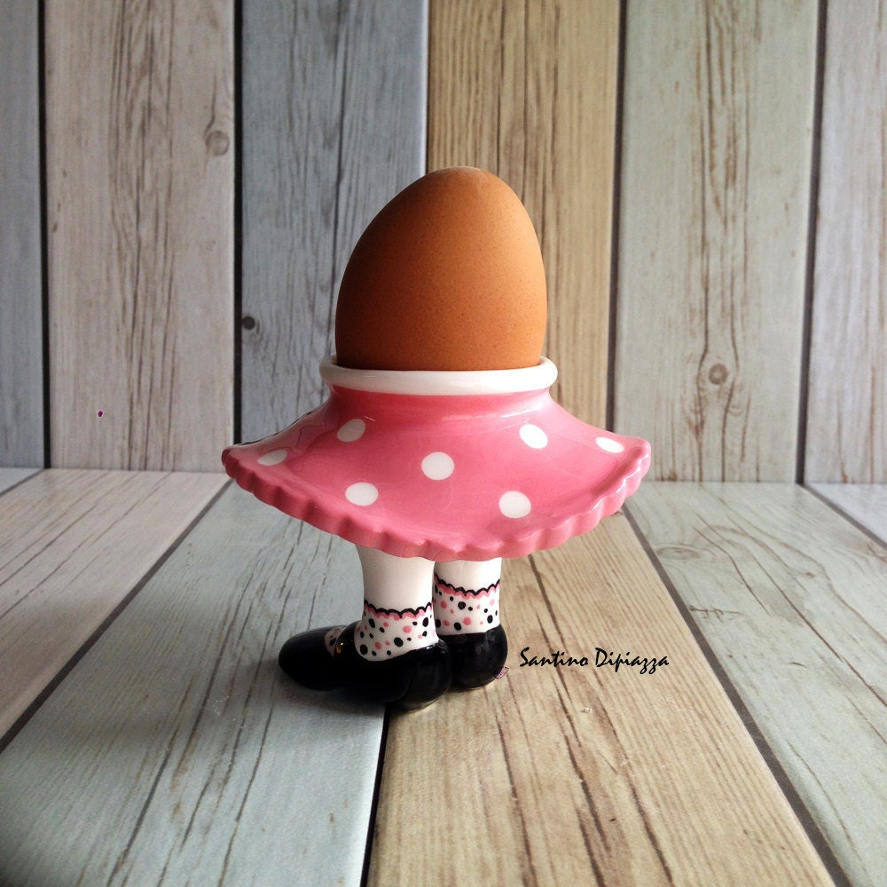 Pink Bopper Egg Cup Unique Egg Holder Funny Egg Cups Rocker