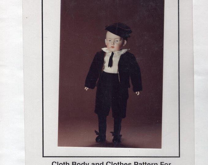 """FREE US SHIP Bell Ceramics Doll Pattern 1980's 1988  Heubach Boy Cloths 13"""" Mold MD2078 New Old Store Stock Sewing Pattern"""