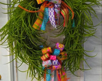 Grass Wreath, Summer Wreath, Door Hanger