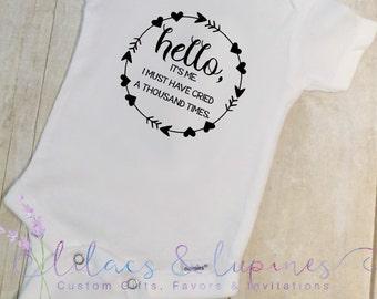 Hello Baby Onesie | Hello It's Me Onesie | Hello Onesie Hello World Adele Onesie | Hello Bodysuit Hello It's Me Baby Clothing Baby Shower