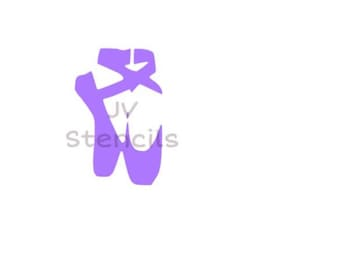 Ballerina Shoes Stencil