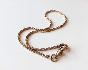 Gold tone watch chain | Pocket watch chain |
