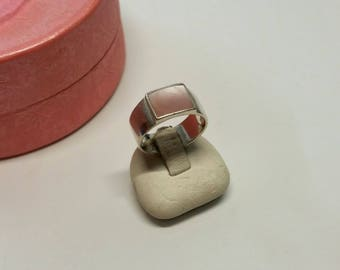 17.2 mm ring 925 Silver mother of Pearl Pink precious SR520