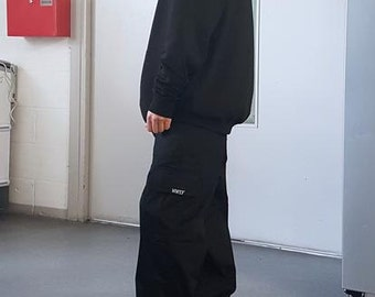 Baggy Cargo Trousers Black