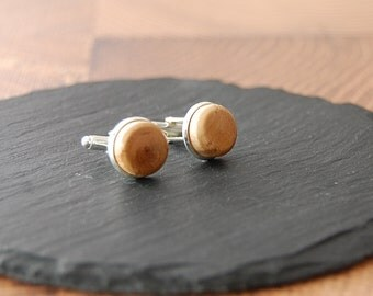 Cufflinks from olive wood