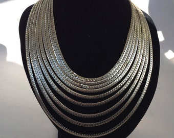 Brookcraft Silver Gold Tone Multi-Chain Necklace