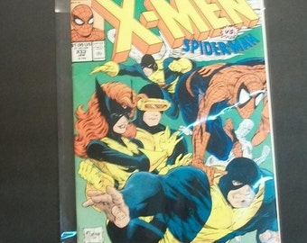 1989 Marvel Tales Starring Spider-Man #233  Guest  X-Men Vs Spiderman Good -VG-Vintage Marvel Comic Book With Lots Of Cover Creases