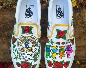 Women's The Grateful Dead Hand Painted Sneakers