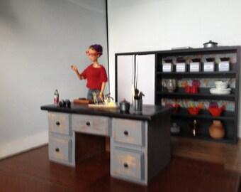Barbie Kitchen Island with Sink