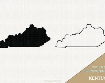 Kentucky Vector, State Clipart, KY Clip Art, Kentucky SVG, State PNG  (Design 13740)