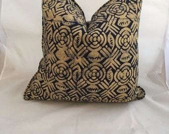 20 inch African Batik Feather Down Decorative Throw Pillow