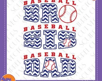 Baseball Fam Art   SVG DXF EPS Cutting files
