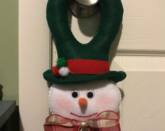Felt Snowman for Door Handle