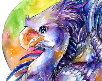 Chocobo ~ Final Fantasy ~ A3 Sized Print of Original Water Colour Painting