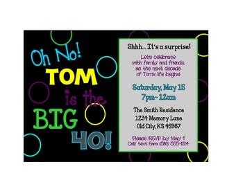 Personalized Milestone Birthday Party Invitations