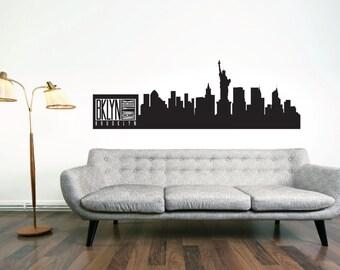Brooklyn Wall Mural Etsy - Custom vinyl decals brooklyn