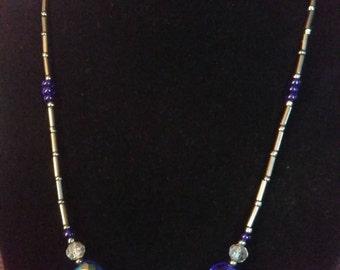 Cobalt Blue Sparkle Necklace
