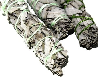 ONE White Sage Smudge Bundle, White Sage Herbal Cleansing Stick, White Sage Incense, Native American Herbs, Spirituality, Yoga Gifts For Her