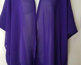 Sale! Sheer Purple Kimono Cardigan