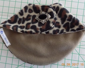 Dog Clothing//Clothing for Dogs//Dog Jacket//Dog Accessories//Brown Leopard Print//Size XL/Yorkie Clothing//FREE SHIPPING