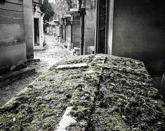 Cemetery Photography Print - Père Lachaise Cemetery, Paris Print, Abandoned Print - Cemetery Photography Print