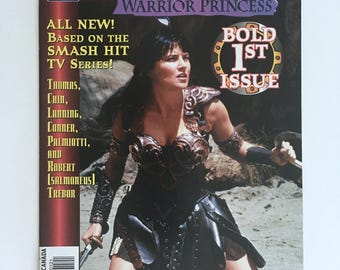 Xena, Warrior Princess Comics, Issue Number 1, Lucy Lawless, Topps Comics, Bold First Issue, Near Mint Condition, TV Series