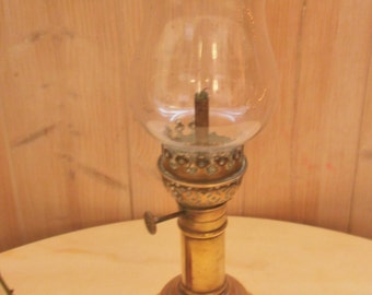 Antique french Oil lamp Mercier patented in copper - lamp antique oil Mercier patented copper