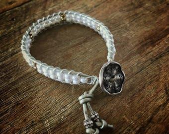 B56 Pearlescent Beaded Wrap Bracelet Single Wrap Chan Luu Style