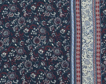 """Dressmaking Fabric, Navy Blue Fabric, Floral Print, Craft Fabric, Sewing Material, 54"""" Inch Rayon Fabric By The Yard ZBR408A"""
