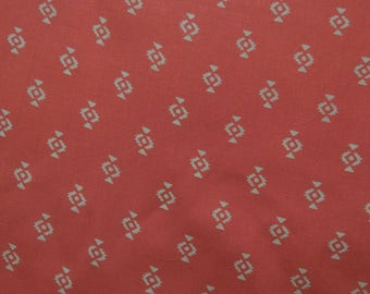 """Home Decor Fabric, Abstract Print, Salmon Fabric, Craft Fabric, Dress Material, 56"""" Inch Rayon Fabric By The Yard ZBR480A"""