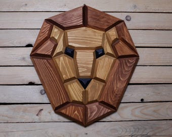 wooden lion wall decor