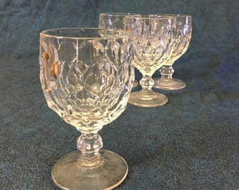 Vintage Imperial Glass Provincial Water Goblets, Set of 4