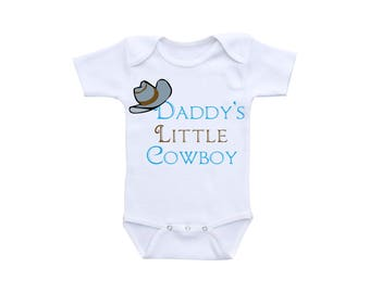 Little Cowboy Baby Clothes or Gerber Onesie® Cowboy Onesie® Dad Gifts Daddy Onesie®Cowboy Baby Shower Farm Baby Clothes Western Baby Clothes
