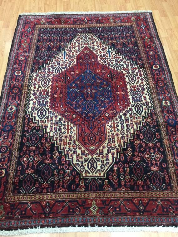 4' x 6' Persian Senneh Oriental Rug - Very Fine - Hand Made - 100% Wool
