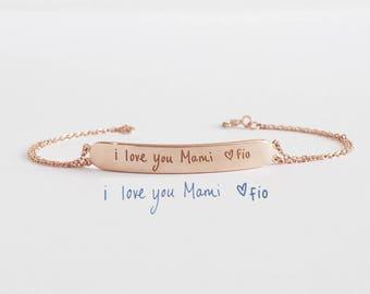 Actual Handwriting Bracelet - Personalized Bracelet For Her - Friendship Bracelet - Memorial Bracelet - Mother's day gift - HB17