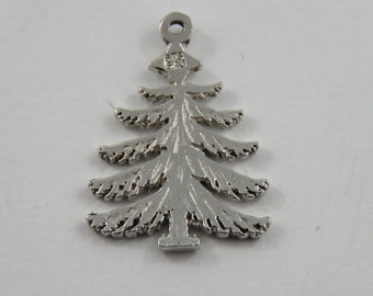 Pine Tree Sterling Silver Pendant or Charm.