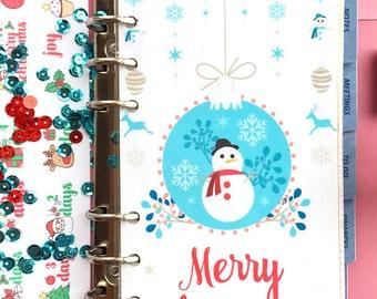 Personal Filofax Dashboard, Planner Dashboard, Christmas Dashboard, Personal Size Planner Divider, Medium Kikki K Planner Accessories