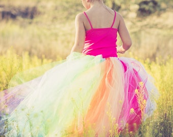 Unicorn Tutu Skirt, Rainbow Hi Low Tutu Skirt, Girls Tutu, High Low Tutu Skirt, Photo Prop Tutu, Birthday Tutu Skirt, Wedding Tutu Skirt