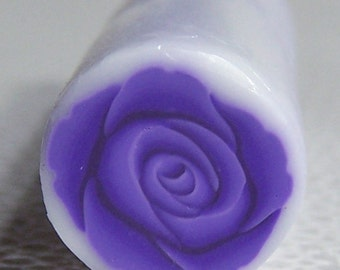 Purple Rose Cane / Polymer clay