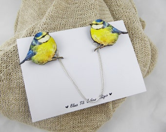 Blue Tit Collar Clips