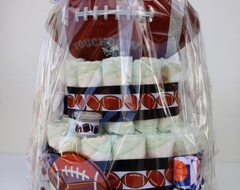 Themed Diaper Cake- Football, Boys